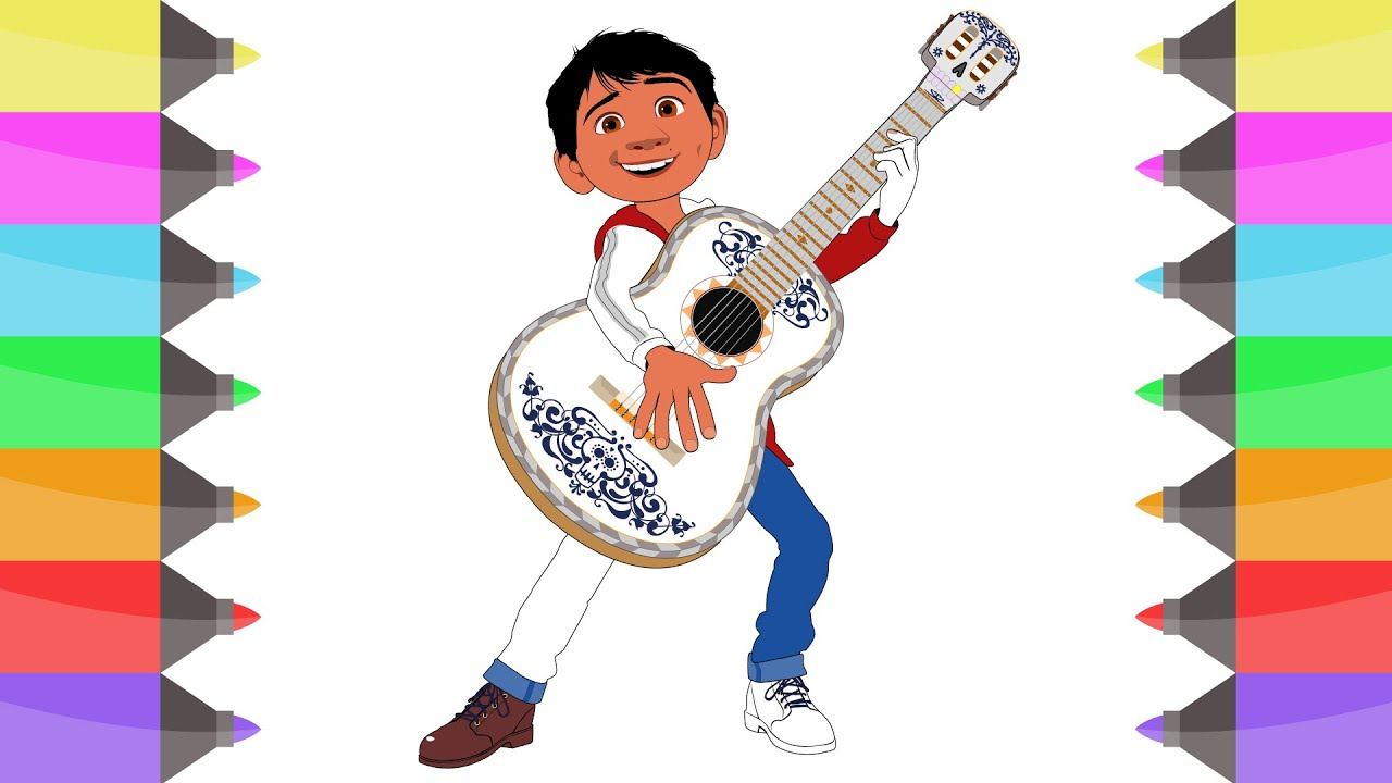 Miguel Coco Para Colorear: How To Draw Miguel From Disney Pixar COCO