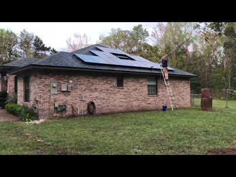 How To Clean Solar Panels With The Eversprout  Extender Cleaning Brush