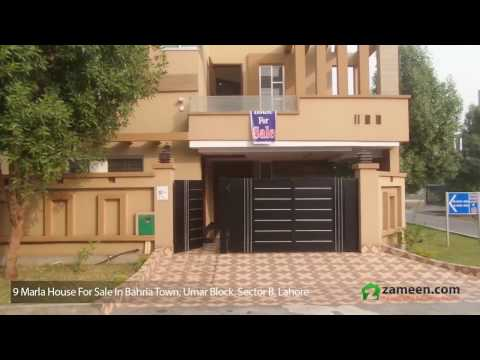 9.25 MARLA HOUSE AVAILABLE FOR SALE IN BAHRIA TOWN - SECTOR B, UMAR BLOCK LAHORE