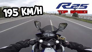 YZF R25 TOP SPEED  MOTOVLOG 61