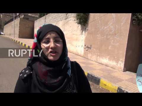 Yemen: Women protest the war outside the UN HQ on Women's Day