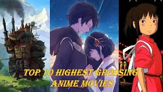 TOP 10 HIGHEST GROSSING ANIME MOVIES LIST