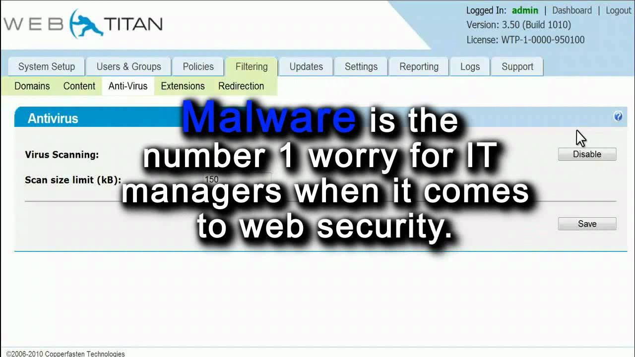 Introducing The Webtitan Web Filtering Appliance Youtube