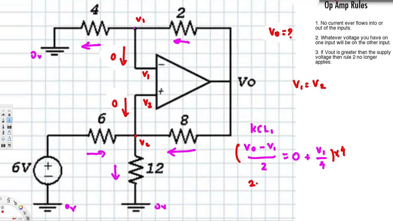 op amps tutorial circuit analysis youtube rh youtube com solving complex op amp circuits Circuit Op-Amp Problems