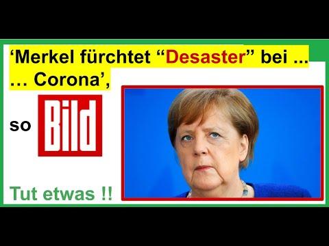 """KEINE SCHNELLEN LOCKERUNGEN. 'Kanzlerin Merkel fürchtet """"Desaster"""" bei Corona', so BILD"""