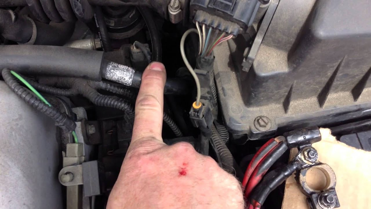 how to clean the battery ground connection on a car ford focus youtube [ 1920 x 1080 Pixel ]