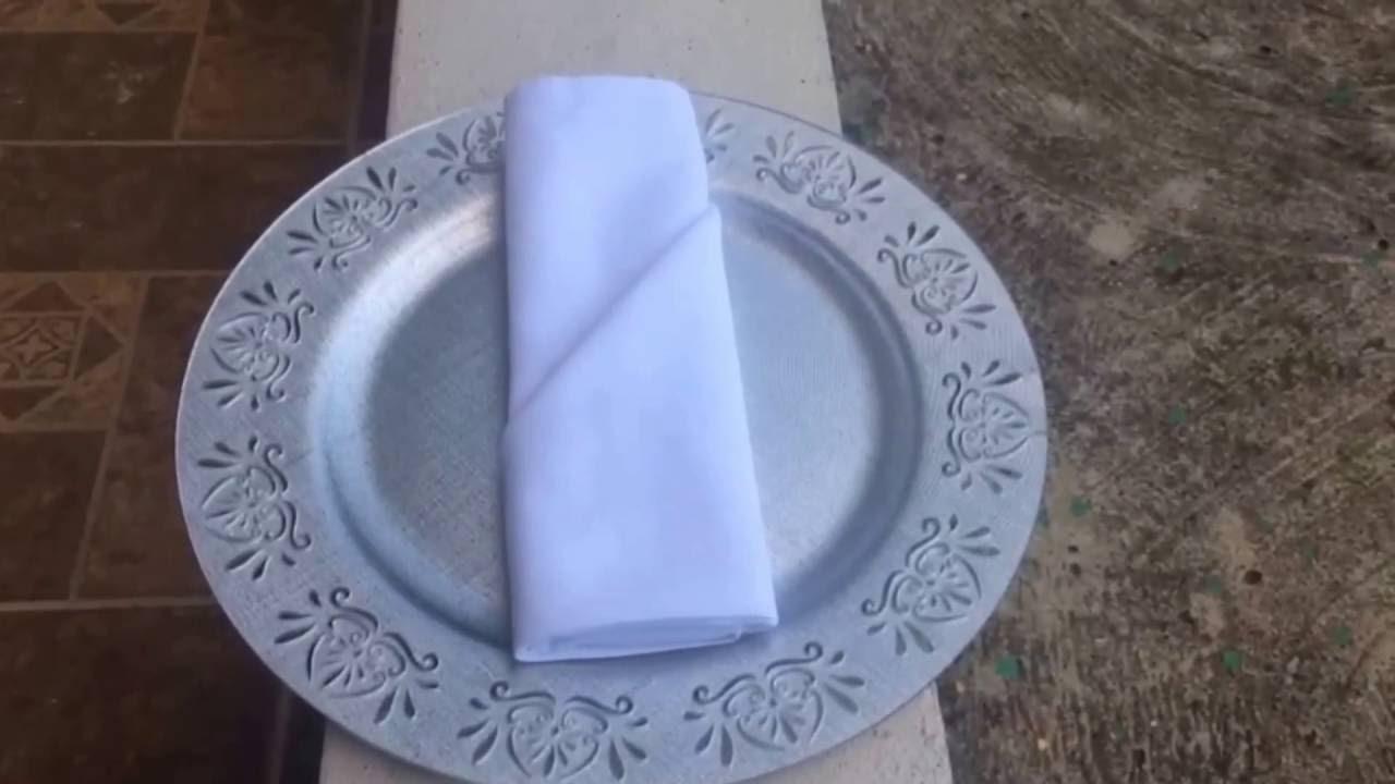 doblado de servilletas de tela dos formas f ciles