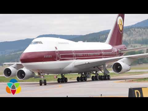 Largest passenger plane to land at YLW