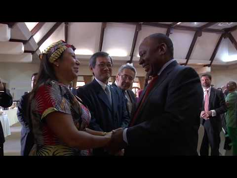 President Cyril Ramaphosa hostsThe Diplomatic corps in celebration of  Africa day