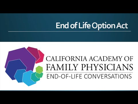 End of Life Options Act Now the Law:  Webinar Recorded June 16, 2016