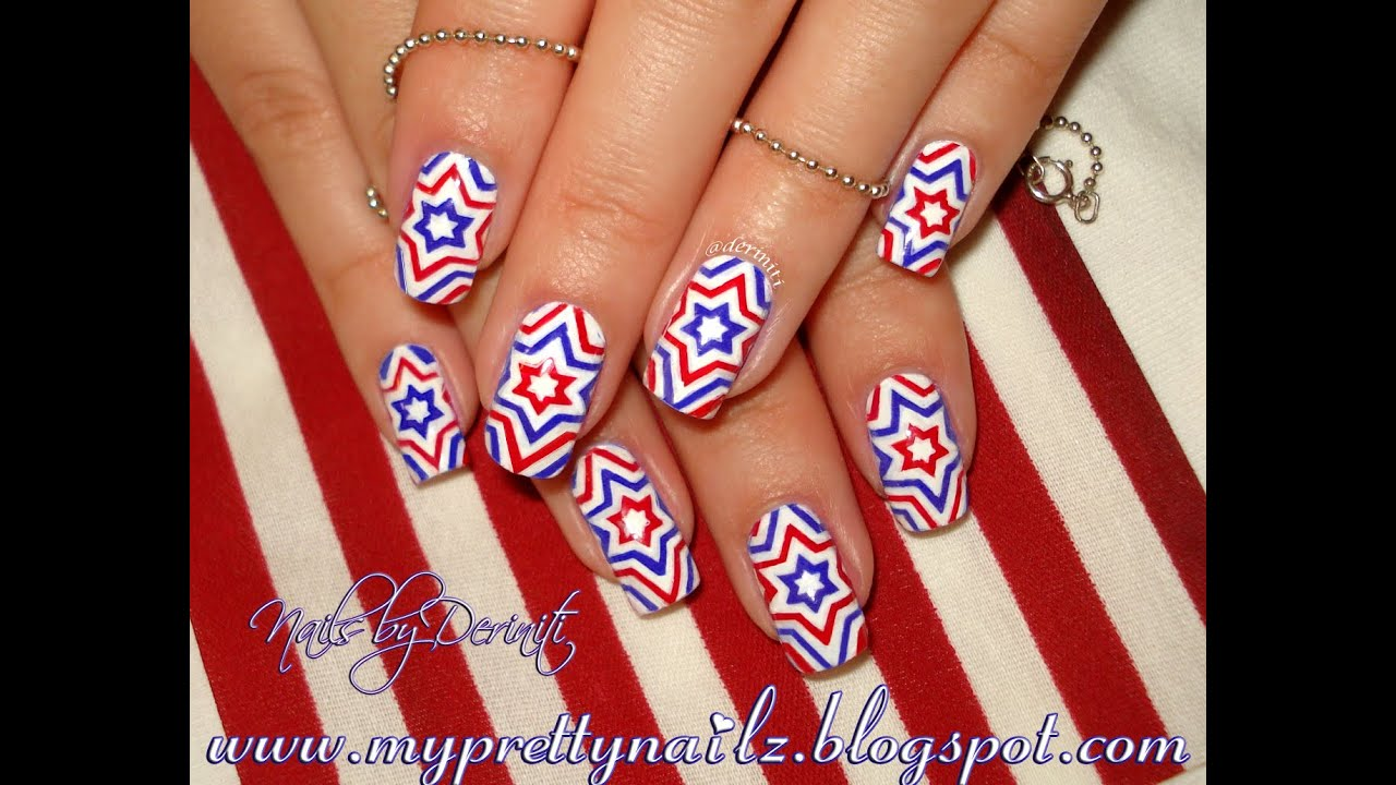 4th of July Independence Day Firecracker Stars Red White ...