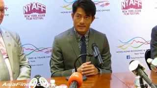 Aaron Kwok Talks About New York Spiderman and Sports in English at HKETO Press Conference 2015