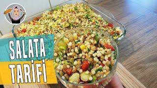 Salata Tarifi+Kuskus Yesil mercimek Salatası+Günlerinizde vazgeçemiyeceginiz salatadır-Hatice Mazi