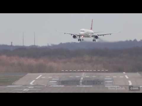 Fırtınadan, çoğu pilotun inemediği piste, THY pilotu bakın nasıl indi...