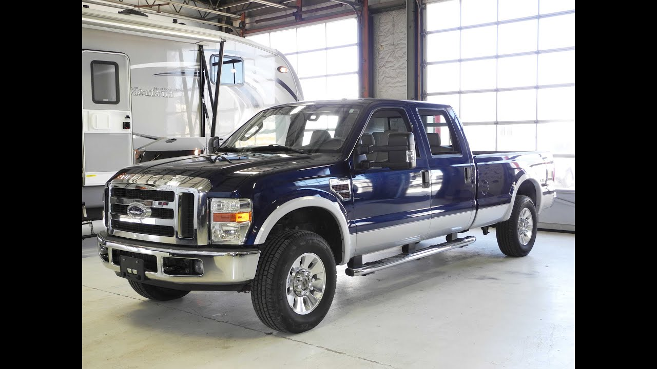 2008 ford f 250 crew cab lariat 4x4 diesel long bed youtube. Black Bedroom Furniture Sets. Home Design Ideas