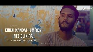 Ennai kandathum yen nee olikirai 🙈   Teejay    Love   Whatsapp status   Musical soul
