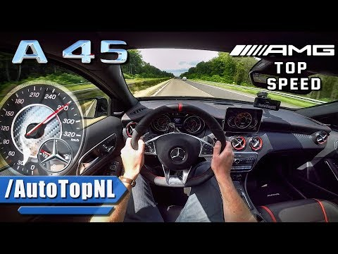 MERCEDES AMG A45 381HP AUTOBAHN POV ACCELERATION & TOP SPEED by AutoTopNL