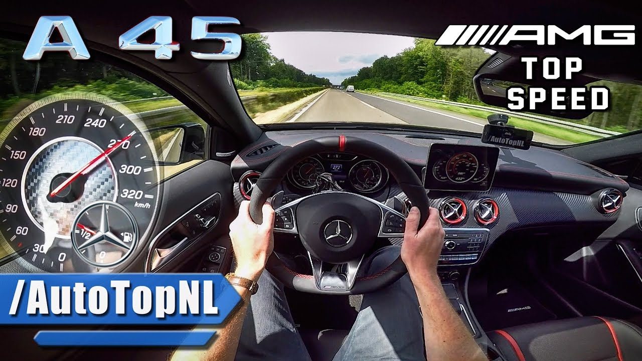 Download MERCEDES AMG A45 381HP AUTOBAHN POV ACCELERATION & TOP SPEED by AutoTopNL