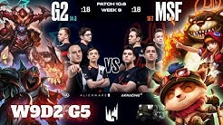 G2 Esports vs Misfits | Week 9 Day 2 S10 LEC Spring 2020 | G2 vs MSF W9D2