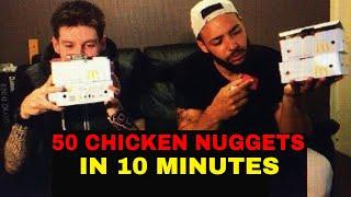 50 CHICKEN NUGGET 10 MINUTE CHALLENGE!!!!!!! 2018