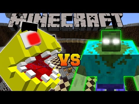 Minecraft: PACMAN VS MUTANT ZOMBIE - Minecraft Mob Battles -
