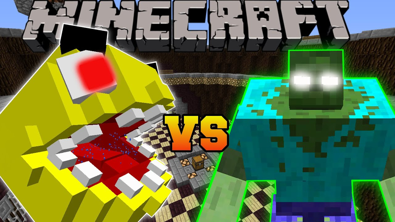 Minecraft PACMAN VS MUTANT ZOMBIE Minecraft Mob Battles