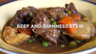St. Patrick's Day Recipe - Beef and Guinness Stew - Made in a Cast Iron Pan