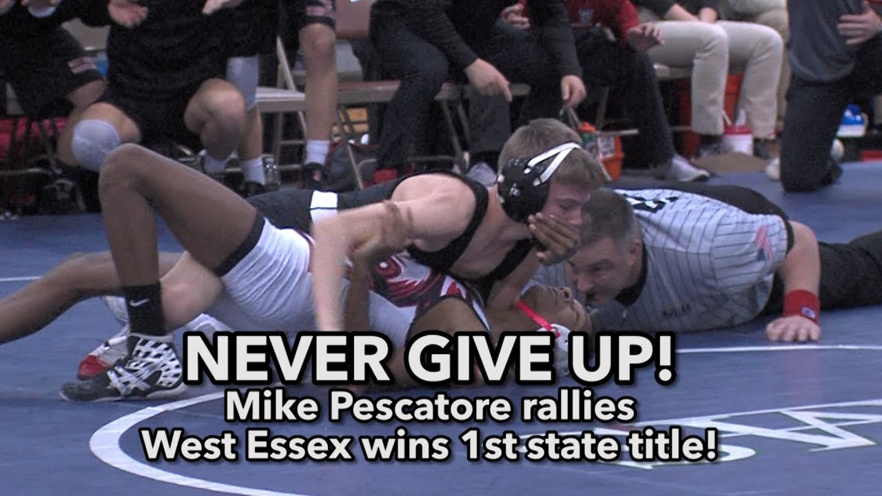 West Essex 40 Delsea 33 | NJ Group 3 State Final | Knights 1st state  wrestling title!