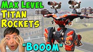 NEW Maxed Titan Rockets on Ao Ming - War Robots 5.6 Gameplay WR