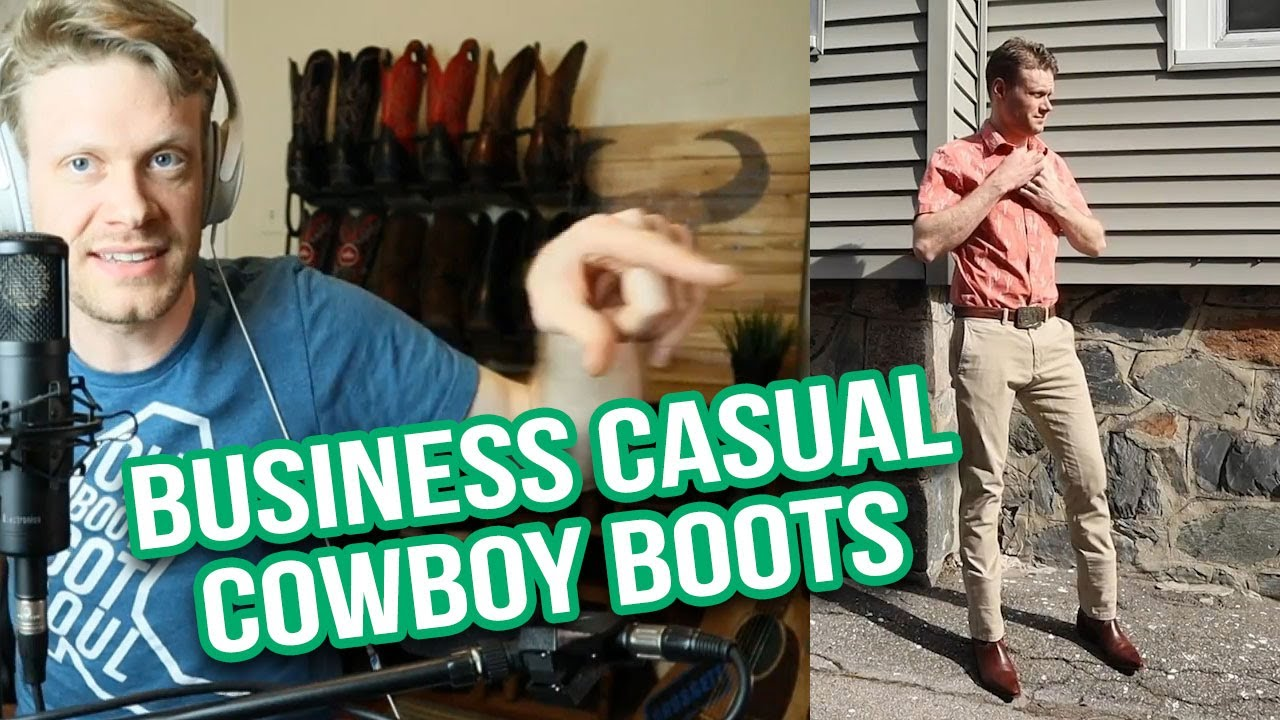 cowboy boots business casual