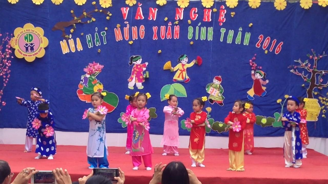 Múa Bé Chúc Tết - Mầm non Hướng Dương Nha Trang Khánh Hòa #1