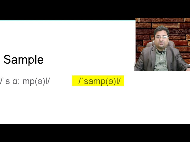 what is the pronunciation of Sample