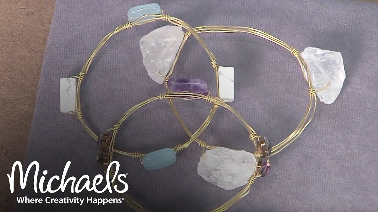How to Make a Beaded Wire Bangle | Jewelry & Accessory Ideas ...