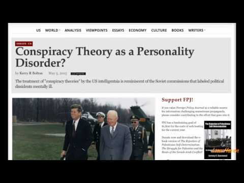 Psychiatry Used as a Tool To Silence Conspiracy Theorists? Shocking Repeat of Soviet Union