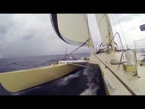 Sailing 33foot Crowther tri, Darwin to Philippenes