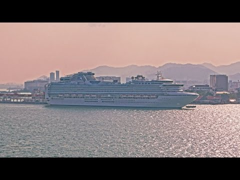 Malaysia port Penang cruise ships Sapphire Princess, SuperStar Libra, Aida 2015