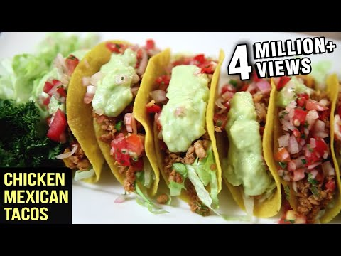Chicken Mexican Tacos Recipe | Tacos With Chicken Filling |