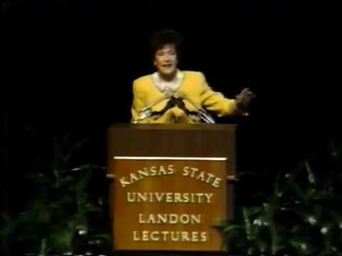 Landon Lecture   Elizabeth Dole