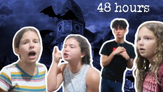 48 hours alone in a haunted house ? ? | SISTERFOREVEVLOGS #776
