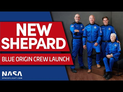 Blue Origin Launches Jeff Bezos to Space on First Crewed New Shepard Mission
