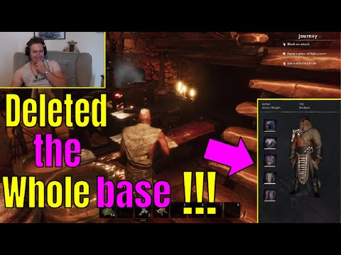 OUR STRANGEST DAY EVER IN CONAN EXILES... Deleting a high level clan's house and taking their ARMOR |