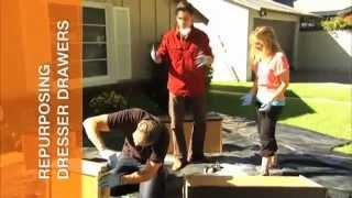 Repurposing Dresser Drawers