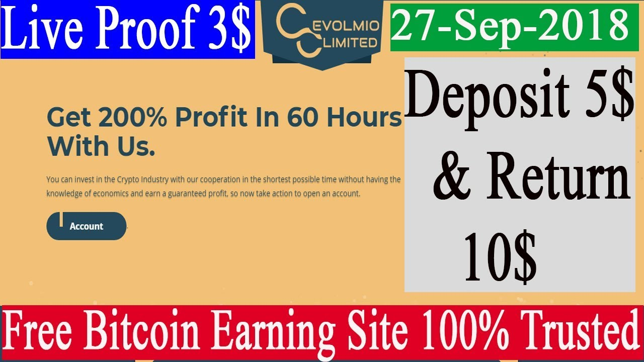EVOLMIO LIMITED New Bitcoin Earning Site || Earn 5$ to 10$ Daily Live Withdraw Proof