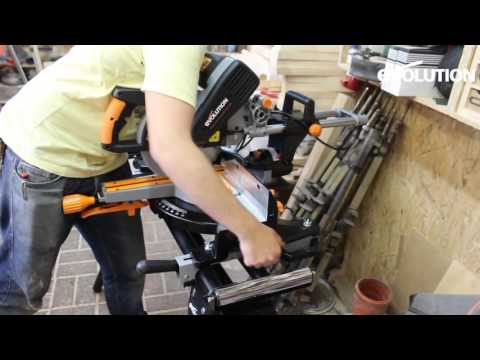 Evolution Rage3-DB Mitre Saw / Miter Saw : Deutsch / German language review!