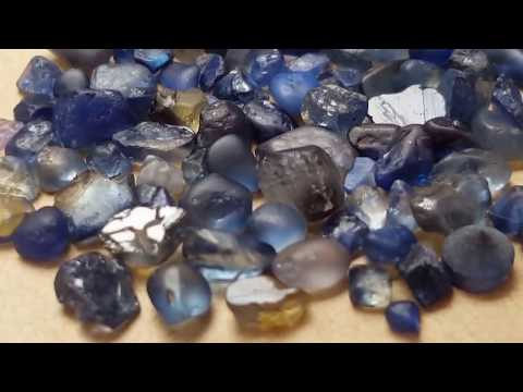 Tasmanian natural sapphire rough gemstones no heat by Metal