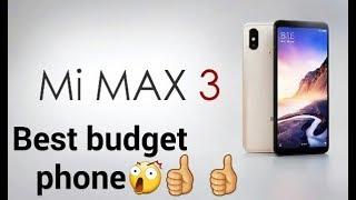 Mi MAX 3/Xiaomi Mi Max 3 Review - a budget-friendly tablet