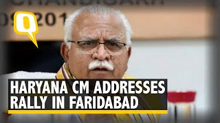 Manohar Lal Khattar Addresses Rally in Faridabad, Haryana