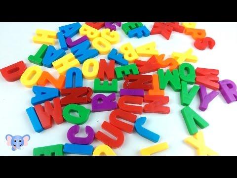 Abecedario de colores | Aprende el alfabeto con letras de colores | Learn alphabet