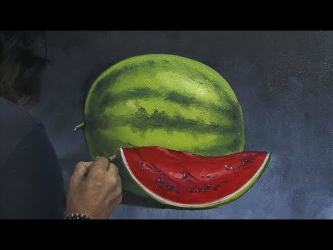 how-to-paint-fruits-|-a-watermelon