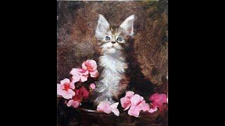 Бесплатный вебинар. Живопись маслом «Мартовский котик»